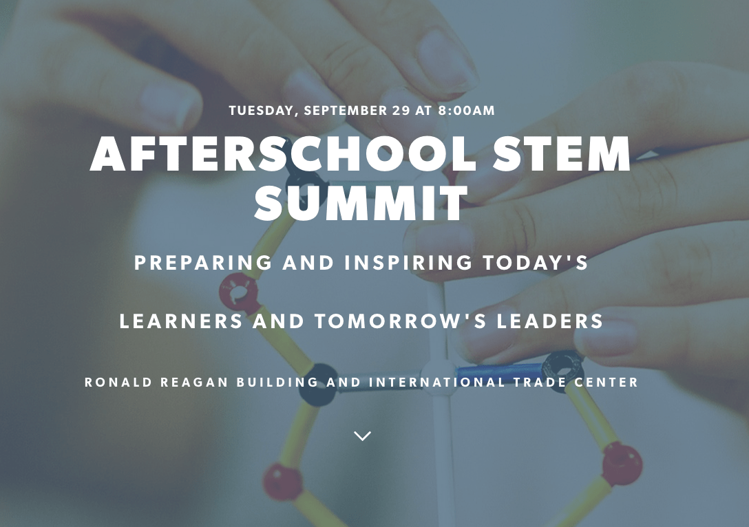 Resources from the Inaugural Afterschool STEM Summit