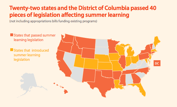 National Summer Learning Association (NSLA) Highlights 3 Areas of Legislation